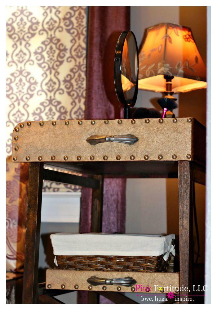 Vintage Bar Cart Turned Makeup Vanity Pink Fortitude LLC Interesting Sewing Machine Bar Cart