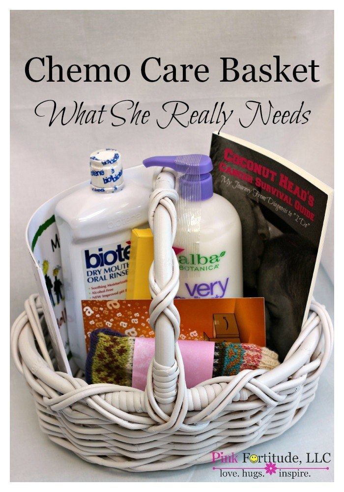 Going through chemo is rough.  Put together a chemo care basket for your loved one. These are eight items that a cancer patient could really use while going through chemo treatment.  These items may not be glamorous, but they are practical and will be greatly appreciated.