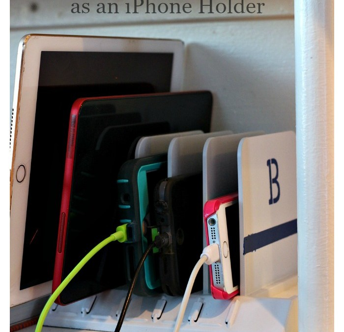 Old Mail Sorter Gets Upcycled as an iPhone Holder