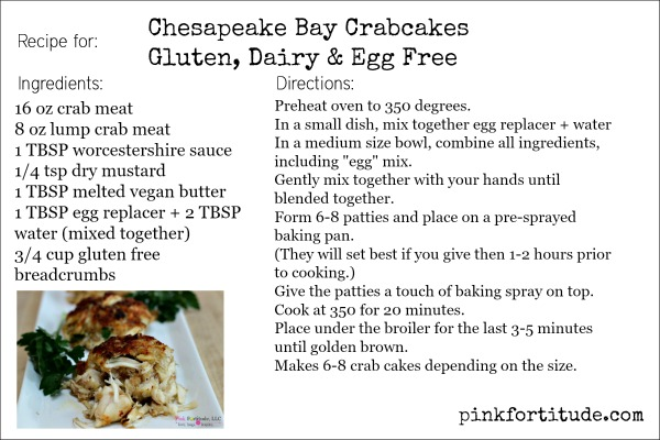 Chesapeake Bay Crabcakes Recipe