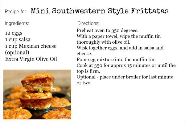 Mini Southwestern Style Frittatas recipe