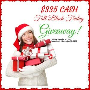 Black Friday Giveaway – $335 Cash!
