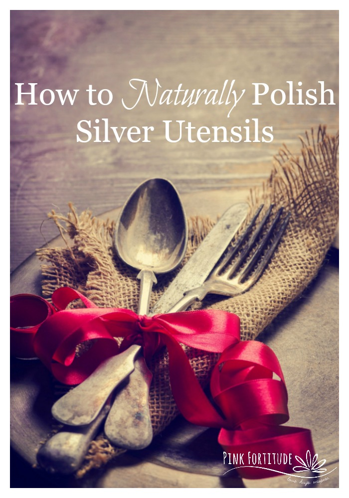 How many times do you use your silver utensils? Let me guess - at Thanksgiving and maybe one more special occasion during the year? Silver utensils tend to tarnish, even with use. Learn how to easily polish your silver utensils with this all-natural technique.