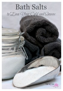 Bath Salts to Ease Your Cold and Sinuses