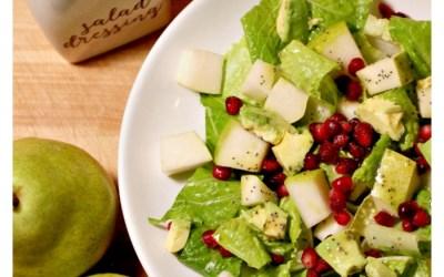 Pear and Pomegranate Salad with Lemon Poppy Seed Vinaigrette