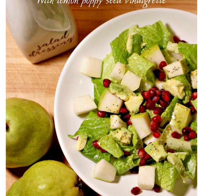 Pear and Pomegranate Salad with Lemon Poppy Seed Vinaigrette