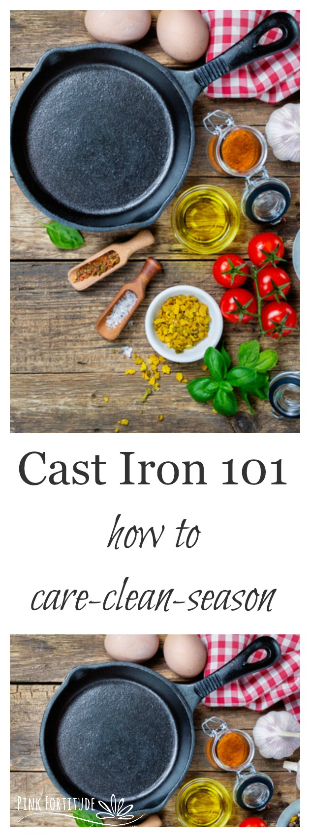 Cast iron is my favorite to cook with. But it can be scary when it comes to care and cleaning. It doesn't have to be a pain in the patootie to care for. Here are some great tips and step-by-step instructions to make caring for, cleaning, and seasoning your cast iron simple and easy.