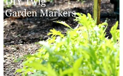 DIY Twig Garden Markers