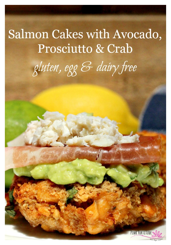 """As a pesco-vegan, salmon and crab are pretty much the only """"meat"""" I will eat. I've been wanting to try a recipe with avocado and crab, but they all seem to be the same and relatively unoriginal. This recipe combines quite a few flavors, and surprisingly, they all blend brilliantly together. It's Paleo-friendly, and I've included easy instructions for it to be gluten free, egg free, and dairy free. It's a company-worthy meal!"""