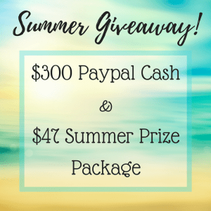 $300 Summer Cash Giveaway