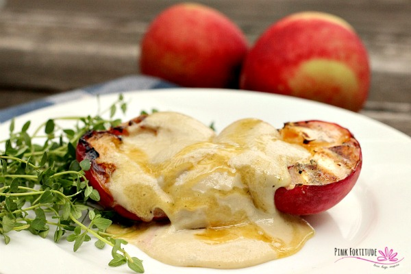 Honey Thyme (vegan) Ice Cream with Grilled Peaches
