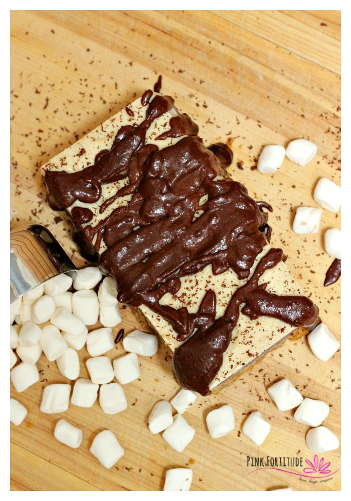 Roasting marshmallows and making S'mores is the quintessential summer evening pastime. But sometimes you need to mix things up a little bit. This S'mores ice cream cake is gluten free and vegan and is sure to please even the most traditional S'mores lovers around your campfire!