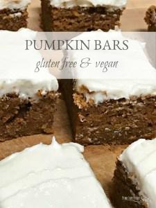 Pumpkin Bars – Gluten Free and Vegan