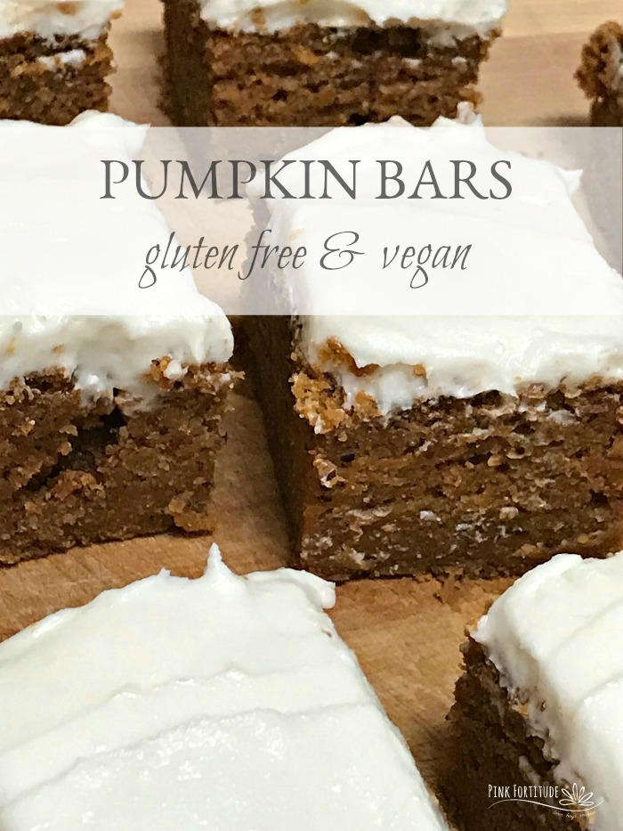 My name is Holly and I'm addicted to pumpkin spice everything. These pumpkin bars were adapted to be gluten free and vegan and trust me when I say you will never miss all of the sugar or dairy! They are soon to be your family's favorite fall treat...