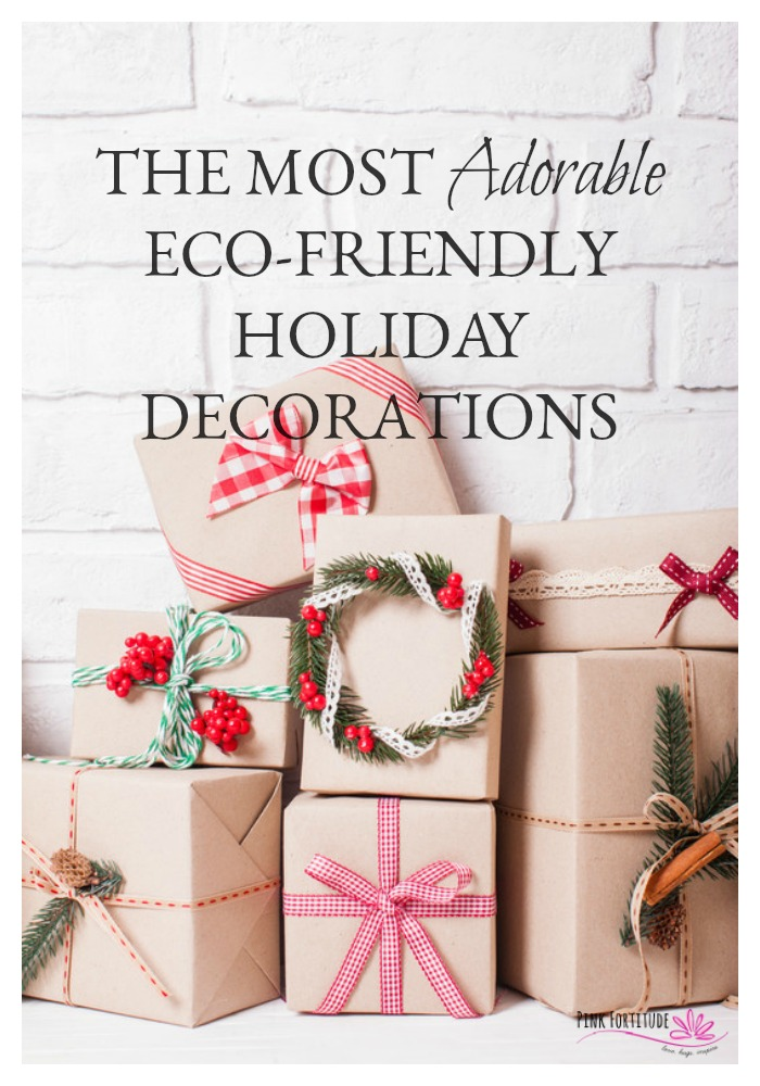 Tis the season of extremes and excess. Why not think about going a little greener this holiday season? These eco-friendly holiday decorations are not only too stinkin adorable, but they are made with upcycled or recycled or organic or all-natural materials. Win for you and win for the environment!