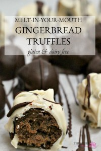 Melt-in-Your-Mouth Gingerbread Truffles – Gluten and Dairy Free