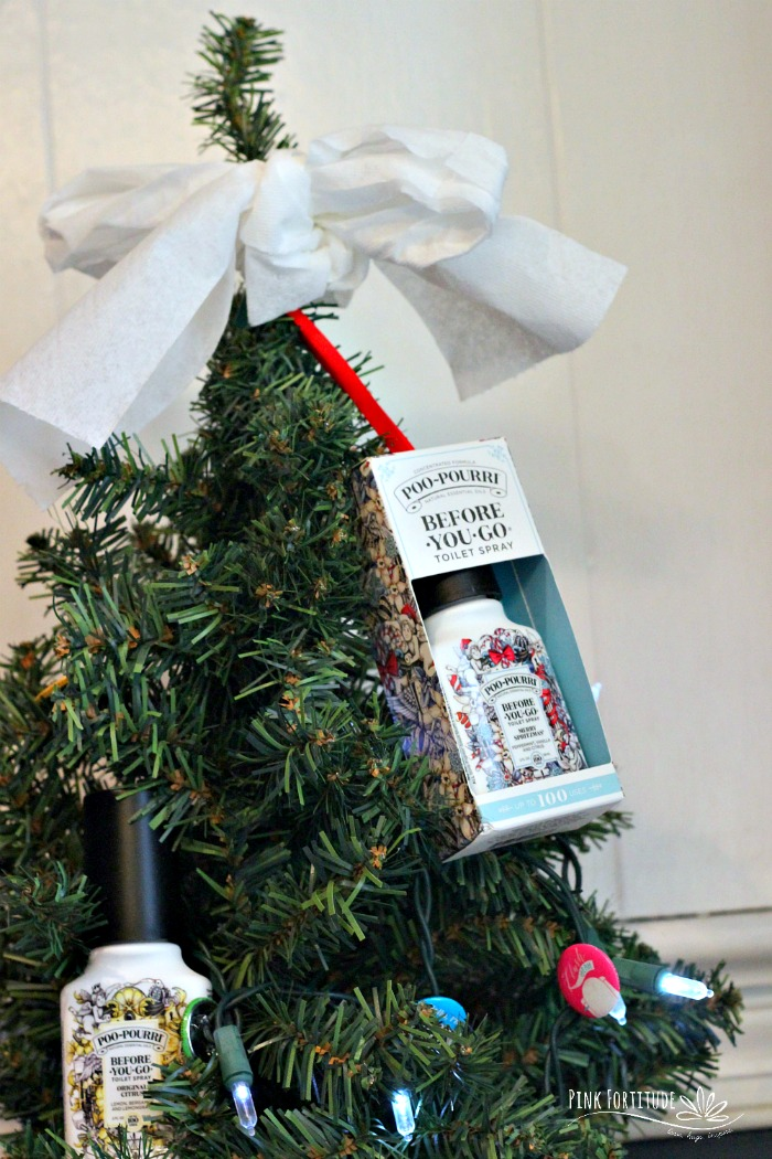 I am a member of the Collective Bias® Social Fabric® Community. This content has been compensated as part of a social shopper amplification for Collective Bias and its advertiser. #AD The holidays bring out the best in all of us. Including some pretty interesting smells. When you entertain guests this holiday season, don't forget their number two needs. This adorable Christmas tree DIY will help your guests be comfortable adding to the scents of the holidays and they will be lining up to poo in your loo!
