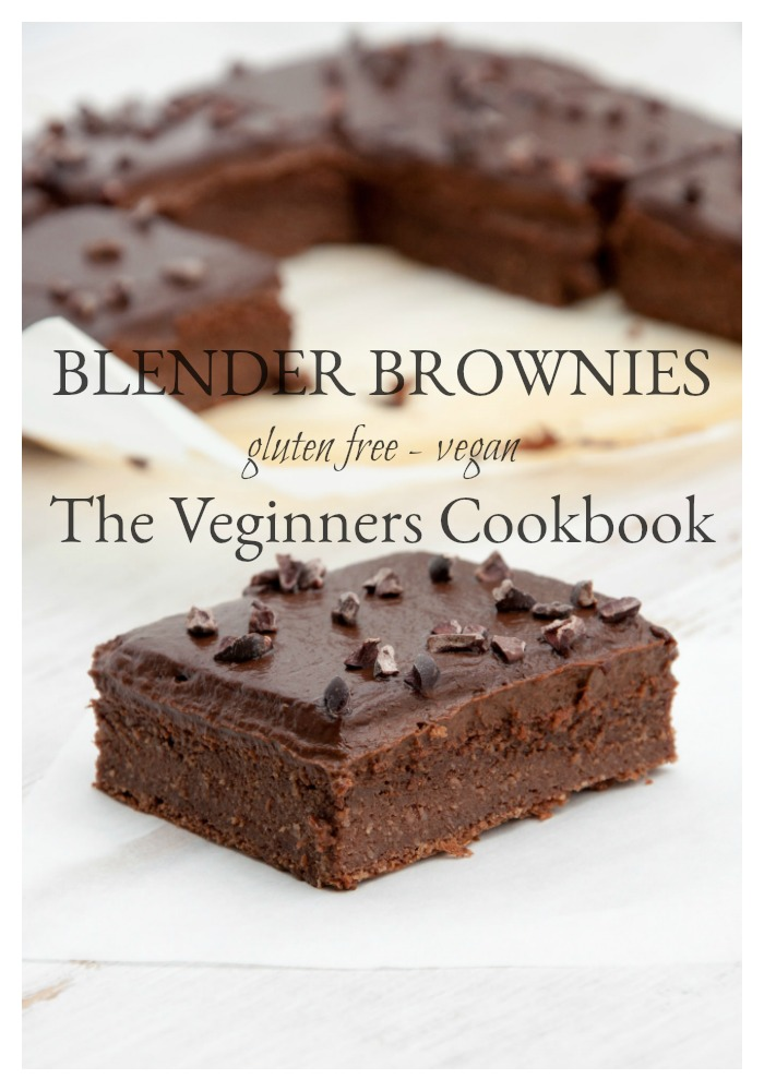 Brownies made in the blender? That are gluten free and vegan? These brownies are made with all-natural ingredients and goodness and are one of the feature recipes in the hot new release The Veginner's Cookbook. I'm sharing the recipe with you today and giving you a sneak peak of the cookbook!