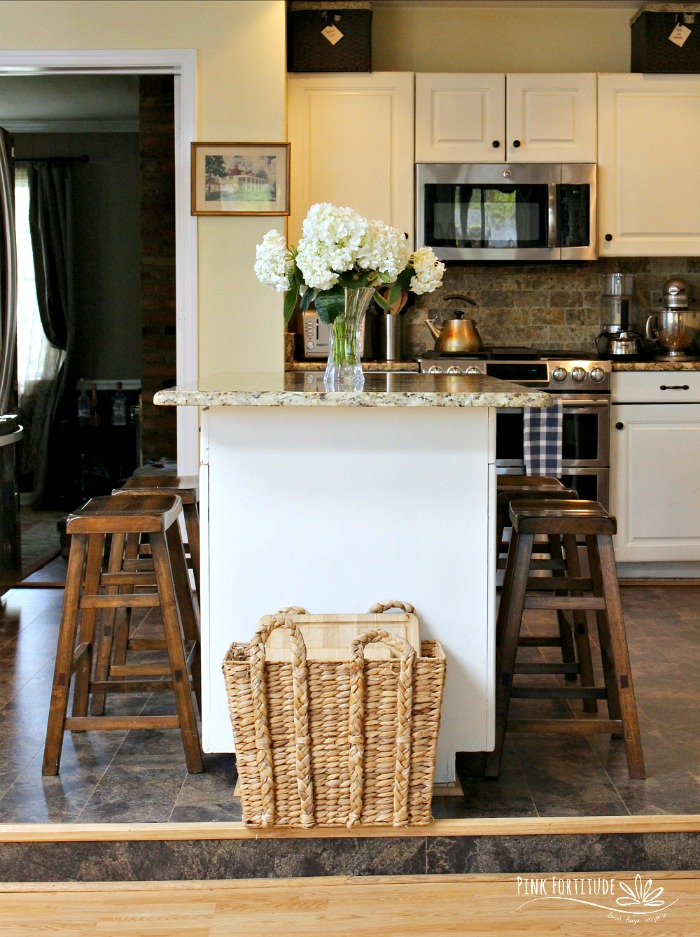 Eco-Friendly Kitchen Floor Before and After - Pink Fortitude, LLC
