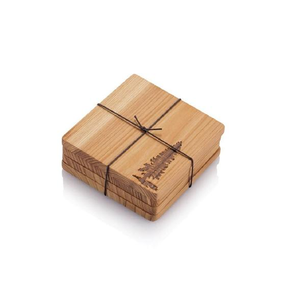 Bambu Pine Tree Coasters
