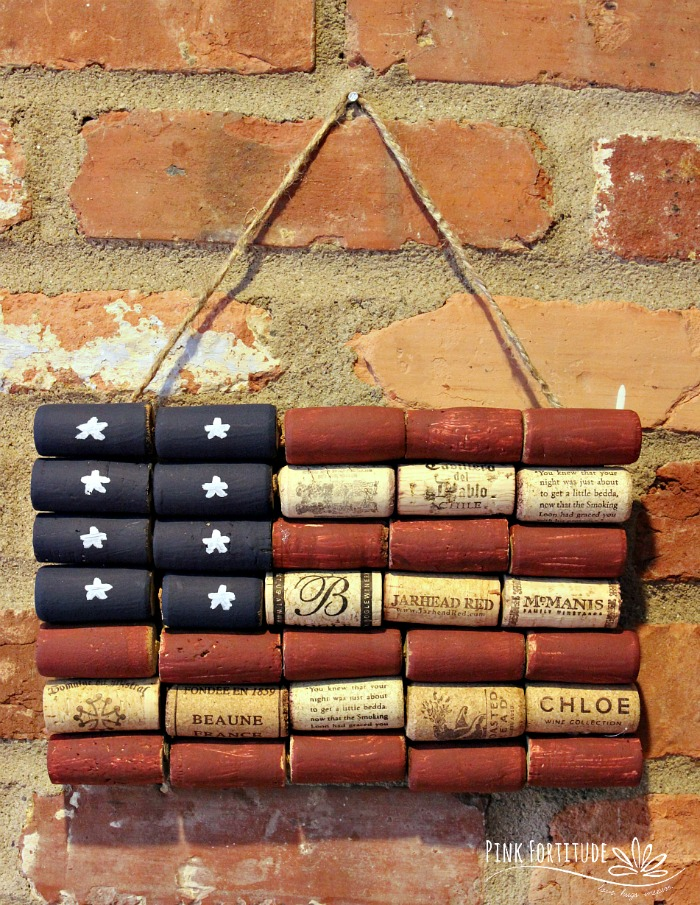 It doesn't get any more patriotic than the American flag, and this wine cork upcycle craft is not only too stinkin cute, but easy to make, and easy on the environment!