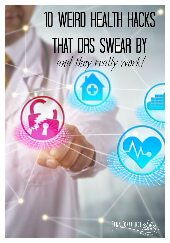When I hosted the Mystery Symptom Summit, I had no idea of the wealth of information I would learn from the doctors who I interviewed. A lot of the information was common sense. But these 10 weird health hacks stood out more than all of the others. The doctors swear by them, and they seem to really work not only for themselves but also for their patients! Number five will even take you back 50 years. Do you practice any of these health hacks? #healthhack #biohacking #alternativemedicine #holistichealth #pinkfortitude