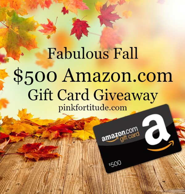 The air is getting cooler and the leaves are falling. Which means we want you to celebrate Fabulous Fall with a chance to win a $500 Amazon.com gift card. Enter below...