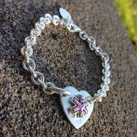 Tiffany Style Medical Alert Bracelet