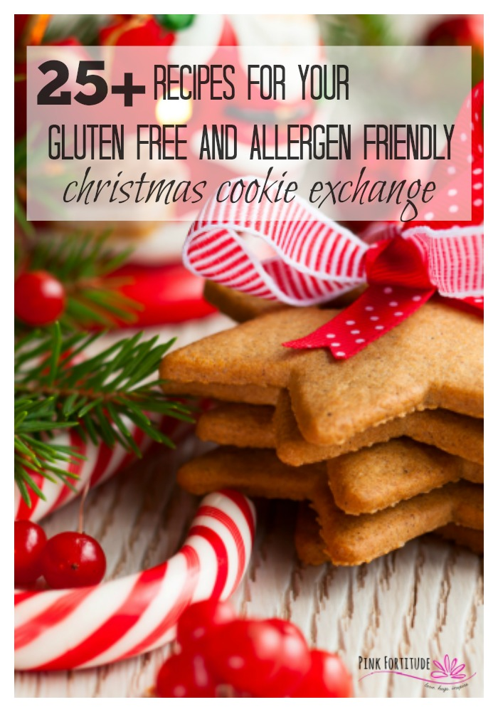 It's that time of the year. Time to whip up your favorite cookies and head on over to your friend's Christmas cookie exchange. But what happens when you or even the entire holiday cookie exchange is gluten free and/or vegan and/or nut free and/or Paleo and/or Keto and/or....??? What's a girl to do? Fear not, we have 25+ recipes that will fit all of your allergen friendly nutrition protocols. Let the baking begin! #christmascookie #glutenfree #recipe #pinkfortitude