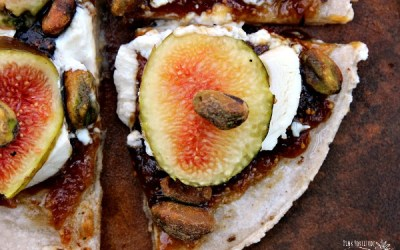 Fig and Goat Cheese Appetizer Pizza – Gluten Free
