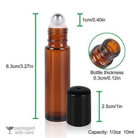 Glass Bottle with Roller