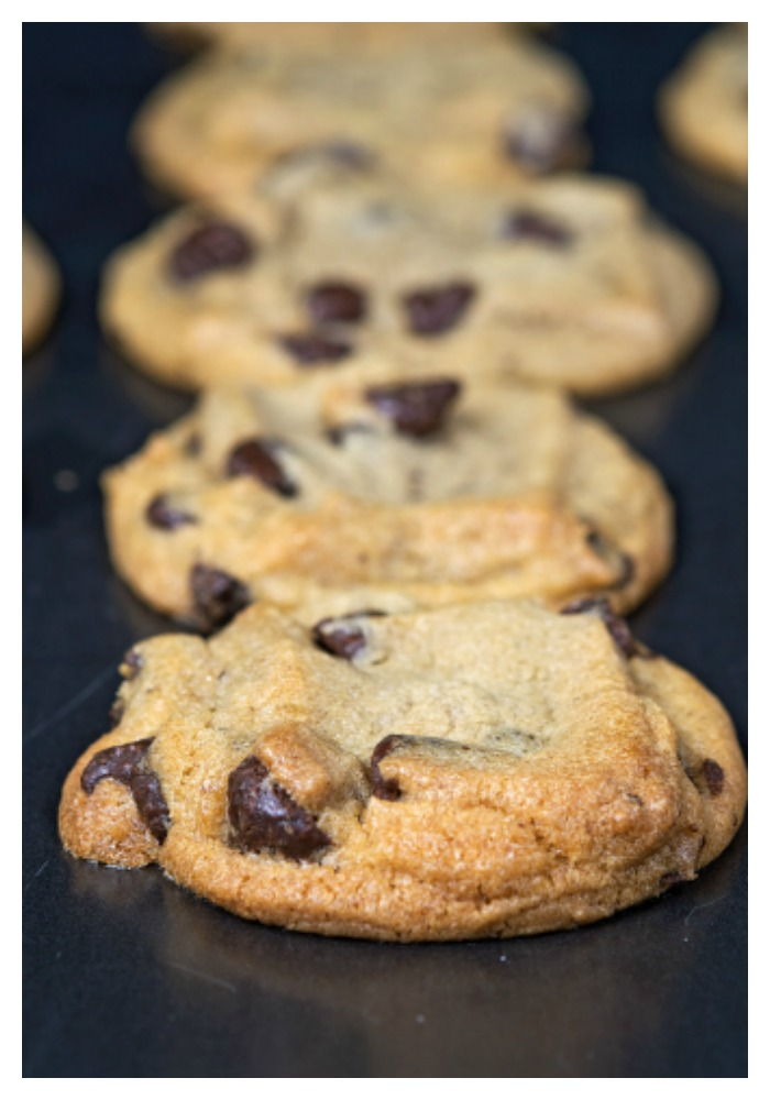 I know we're all trying to be healthy. But let's keep it real. A chocolate chip cookie should taste like a chocolate chip cookie. Even if it's gluten-free, grain-free, dairy-free and egg-free (and with a vegan option). These are the best ever chocolate chip cookies because they taste like the traditional version. Trust me. They are that good. Get your almond milk ready for some serious dunking!