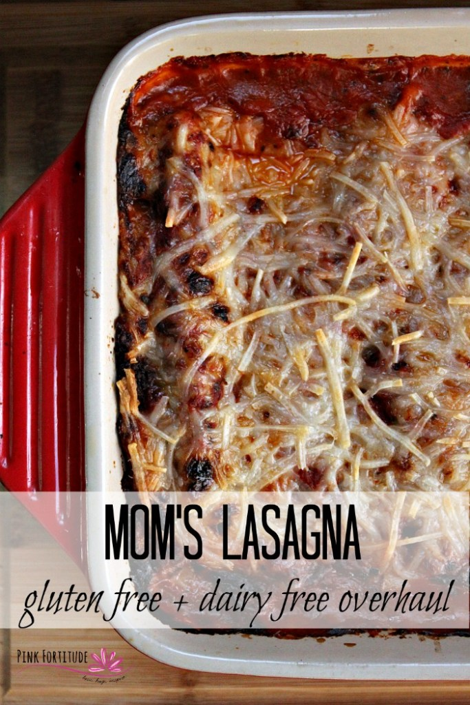 Mom's lasagna is the epitome of comfort food. It doesn't have to be my mom. Pretty much any mom's lasagna will do. I found a way to recreate my favorite recipe to be gluten-free and dairy-free and the flavor is pretty darn close. Get the recipe overhaul...