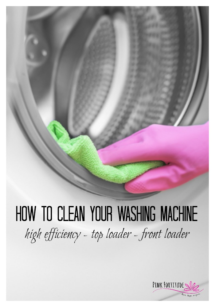 UGH! What is that smell in your laundry room? Trust me, you aren't alone. Washing machines are notorious for collecting gunk and funk and weird smells. Here's a step-by-step guide to clean your washing machine inside and out - for High Efficiency (HE), top loader, or front loaders - and using all-natural products.