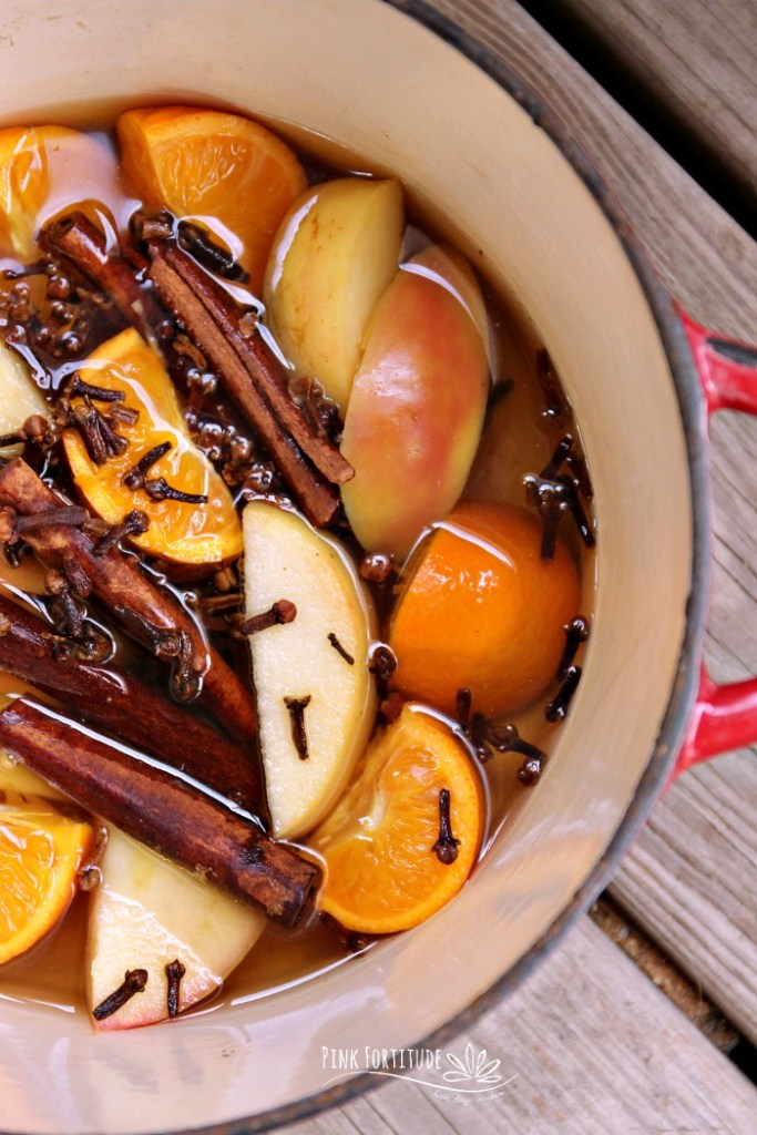 Welcome fall! If you are ready to fill your home with the scents of autumn, you will love this fall simmer potpourri DIY. You can make it on the stovetop or even in a Crock-Pot. It's easy to make with oranges, apples, and cinnamon and will fill your kitchen with the warmth of the season.
