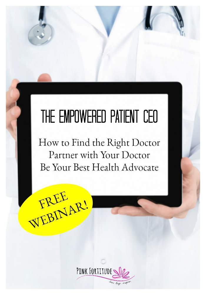 In this free webinar, I'm going to show you how you can make the ultimate shift from being powerless, overwhelmed, and frustrated with your doctor, to feeling empowered with your health, and finding and collaborating with the doctor who is right for you. Learn how to be the Empowered Patient CEO!