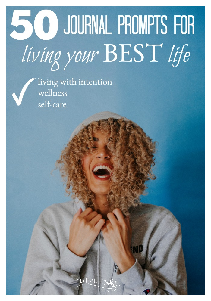 You want to be living your best life. It might be January and you are embracing the New Year, New You. Or any time of year that you are looking to be more intentional, improve your emotional and physical health and wellness and live with greater purpose. These 50 journal prompts will help you to start living your best life. The time to begin is now!