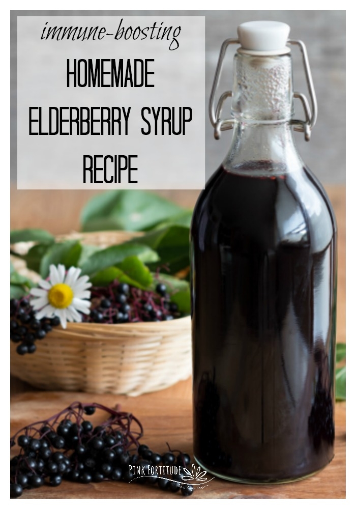 Elderberry syrup has been used for years to possibly help prevent the cold and flu. It's vitamins, antioxidants and flavonols should be a part of your immune-boosting arsenal. Here's the DIY and how to make your homemade recipe. It's quick and easy to make!