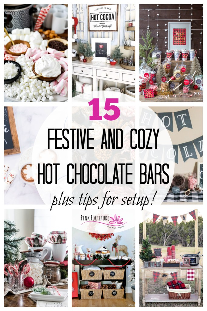 For Christmas and through the winter, nothing gets my family more excited than setting up the hot chocolate bar and station. Enjoying hot cocoa is a fun and festive ritual. I've included tips and tricks to help you get one set up, along with 15 DIY ideas. Perfect for your own family, a holiday party, or even a shower or wedding!