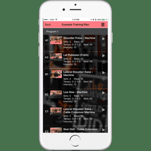 Virtual Trainer app