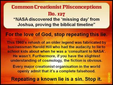 NASA discovered the 'missing day' from Joshua, proving the biblical timeline.