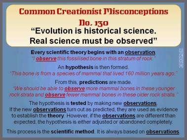 Evolution is historical science. Real science must be observed.