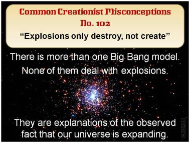 Explosions only destroy, not create,