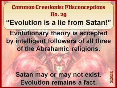 Evolution is a lie from Satan.