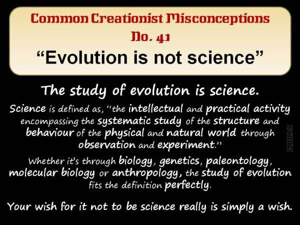 Evolution is not science.