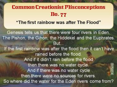 The first rainbow was after The Flood.