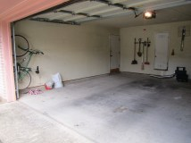 garage after - no more racks on the wall!