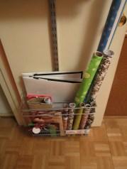 Elfa gift wrap organization