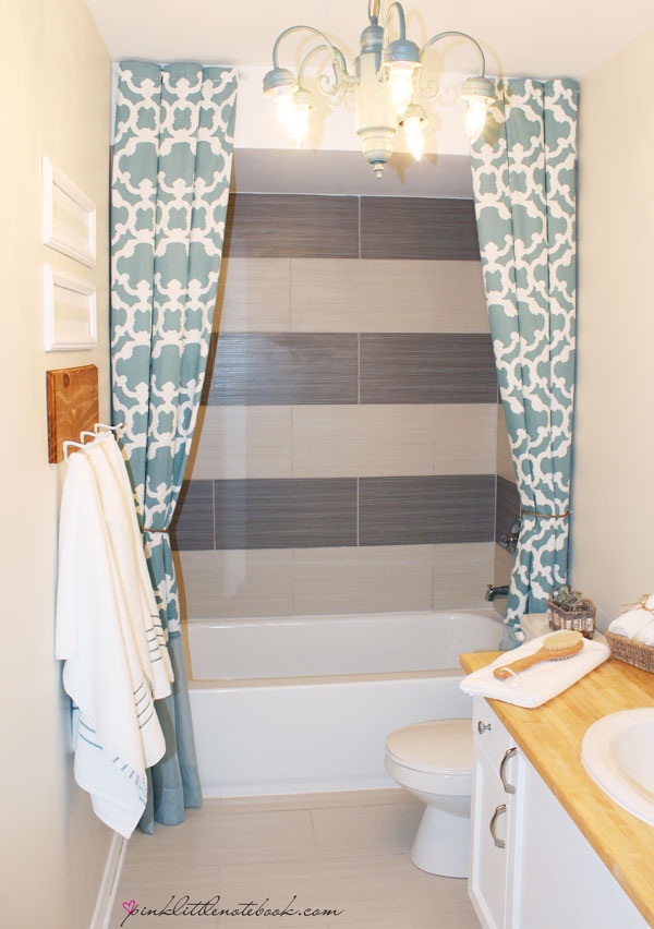how i extended my 72 shower curtain to