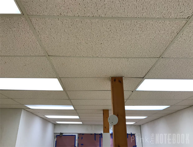 old dated ceiling tile no problem